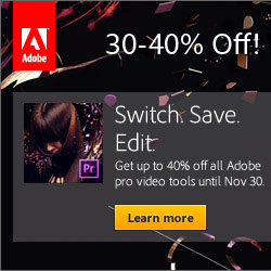 Save 30%-40% on Industry-Leading Adobe CS6 Tools with Promotion Code