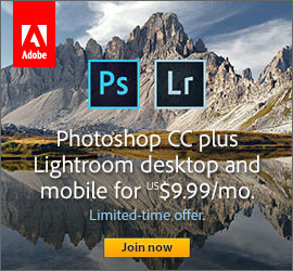 Adobe creative cloud photography plan price