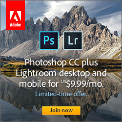 Limited Time Offer: Get Adobe Photoshop CC plus Lightroom 5 and Mobile for Only US$9.99/Month! (Regular Price)