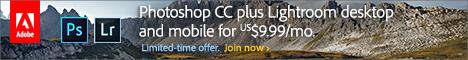 Worldwide Promotion! Get New Adobe Photoshop CC plus Lightroom 5 and Mobile for Just US$9.99 a Month (Ongoing Price)