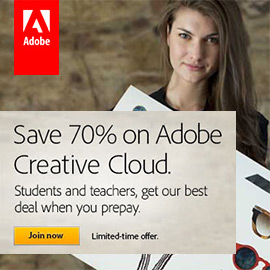 Adobe's Best Education Deal! Get Up to 70% Off Creative Cloud, Worldwide