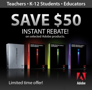 Save Even More on Already-Discounted Adobe Education Editions