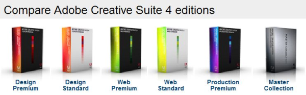 Compare Adobe CS4 Editions