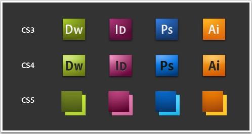 Adobe Creative Suite 5 Icon Progression