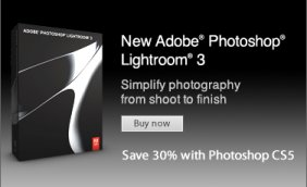 Get 30% off Lightroom 3 when bought with Photoshop CS5