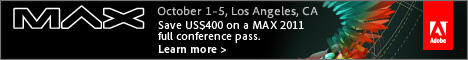 Save $400: Adobe MAX 2011 Conference Coupon Code