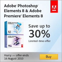 Save $50 or 30% on Adobe Photoshop & Premiere Elements 8