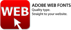 Try Adobe Web Fonts for free