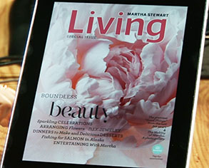Adobe Digital Publishing Suite features Martha Stewart Living