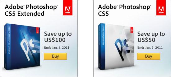 Save up to $100 on Adobe Photoshop CS5