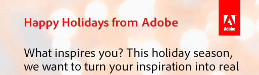 Check Out Adobe's Holiday Card - and They'll Make a Donation to Charity
