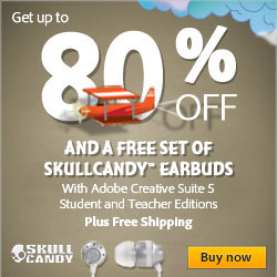 Save 80% on Student Editions + get free Skullcandy INK'd earbuds