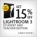 Save 15% off student edition of Lightroom with CS5.5