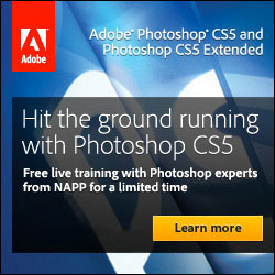 Watch free training sessions for Photoshop CS5