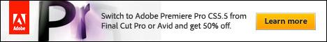 Half-Price Promotion Code: Premiere Pro CS5.5