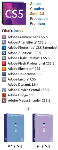 Get CS5.5 Production Premium Including CS4