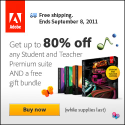 Students: Free Adobe Gift Bundle + Free Shipping
