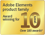 Adobe Elements Products: 10 Years, Over 180 Awards