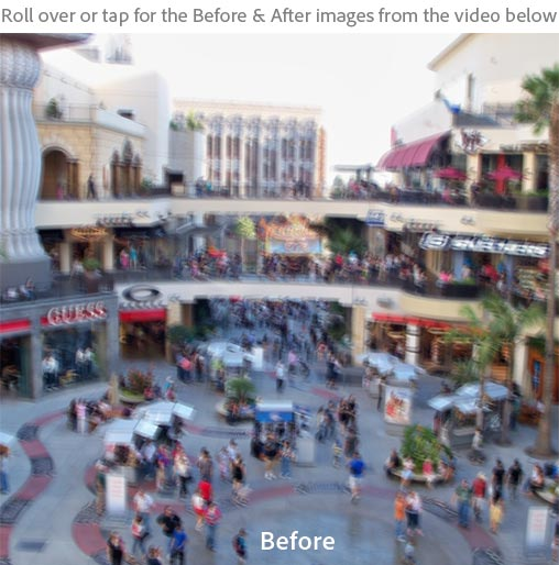 Adobe Photoshop (CS6?) Sneak Peek: Photo Deblurring