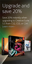 Get an extra 20% off all CS5.5 upgrades
