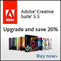 Save 20% extra on your upgrade to Adobe CS5.5
