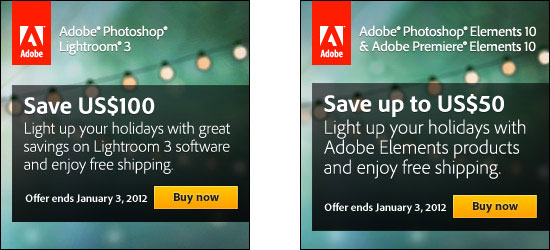 Holiday Deals on Adobe Lightroom 3 and Elements 10
