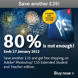 Take an extra €30/£25 off the already-discounted price of Photoshop CS5!