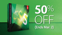 Coupon for 50% Off Adobe CS5.5 Web Premium