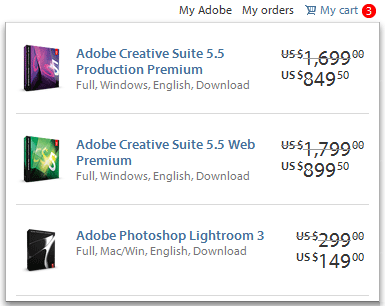 Adobe Promotion Codes: Get Full CS5.5 Premium Suites for Half Price!