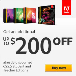 Adobe Student Versions Promotion Code - Get an Extra $200 Off!