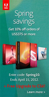 Save 10 on adobe cs55 cs6 with coupon code 1 week only save 10 on adobe cs6 with special promotion code fandeluxe Images
