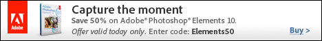 Capture the Moment: Get Adobe Elements 10 for Half Price!