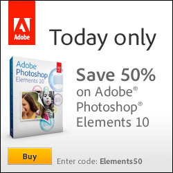 Capture the Moment! Save 50% on Adobe Elements 10