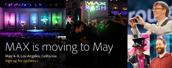 Adobe MAX 2012 Is Moving to 2013!