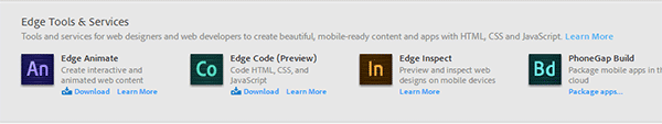 Download the Free Adobe Edge Tools & Services Now with Free Creative Cloud Membership