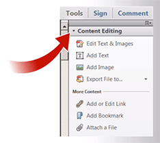 "New feature in Acrobat XI: ""real"" PDF editing tools!"