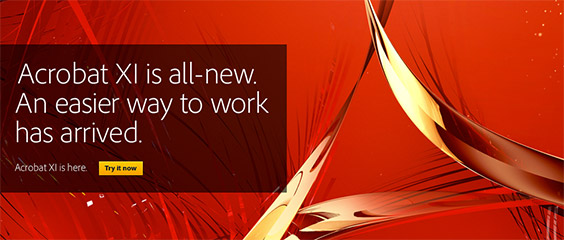 New Adobe Acrobat XI Is Now Available! Download a Free Trial Instantly