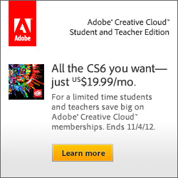Students & Teachers Get New Adobe Creative Cloud for $19.99/Month - Save 60% Off the Regular Price!