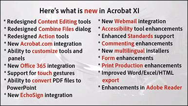 What's New in Adobe Acrobat XI (Acrobat 11)?