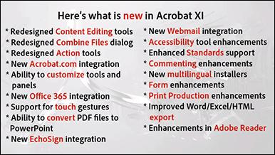 What's New in Adobe Acrobat XI (Acrobat 11)?