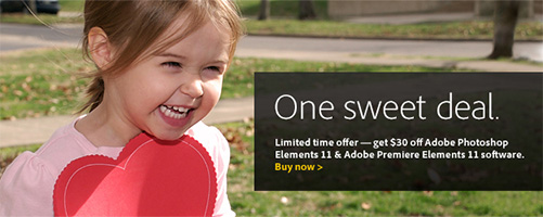 Save $30 on Adobe Photoshop & Premiere Elements 11 for a Limited Time with One Sweet Deal