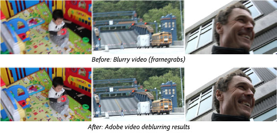 Example Frames from Adobe's Video Deblurring Tool - Learn More About This New Technology