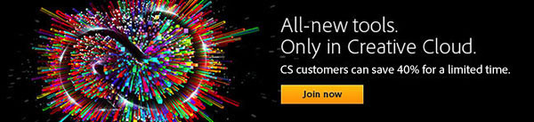 Get a Discounted Upgrade to All-New Adobe CC (Creative Cloud) for a Limited Time Only!