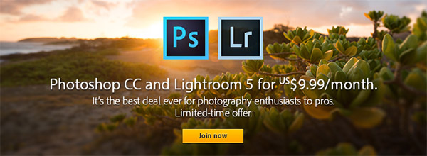 BF Offer Extended! Photoshop CC + Lightroom 5 + More for $9.99/Month with Adobe Photography Package