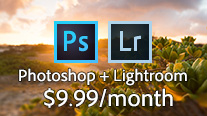 The Photoshop + Lightroom Photography Plan - Now $10/Month for Everyone!