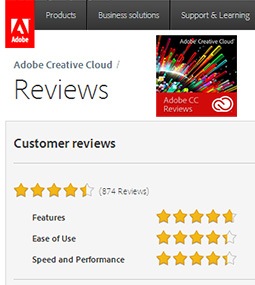 See Hundreds of Customer Ratings & Reviews for Adobe CC