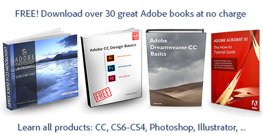 Receive over 30 Adobe Books plus Our Newsletter, Free!   ProDesignTools