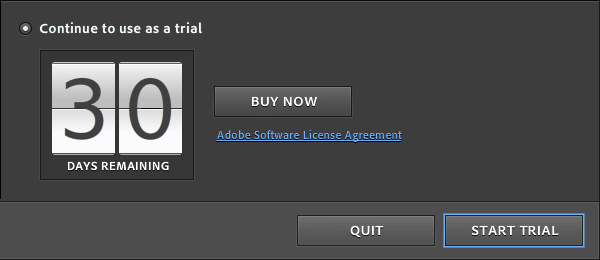 trial version of adobe photoshop