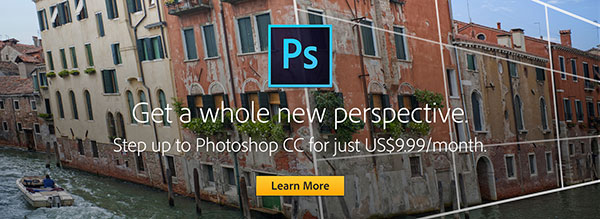 Upgrade to the New Photoshop CC Photography Plan, Including Full PS + Lightroom and Ongoing Updates
