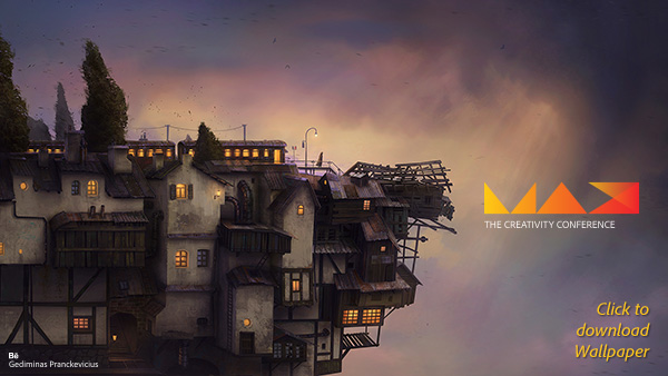 Download the Awesome Adobe MAX 2014 Wallpaper from Gediminas Pranckevicius (Full-Sized Hi-Res for Your Desktop)